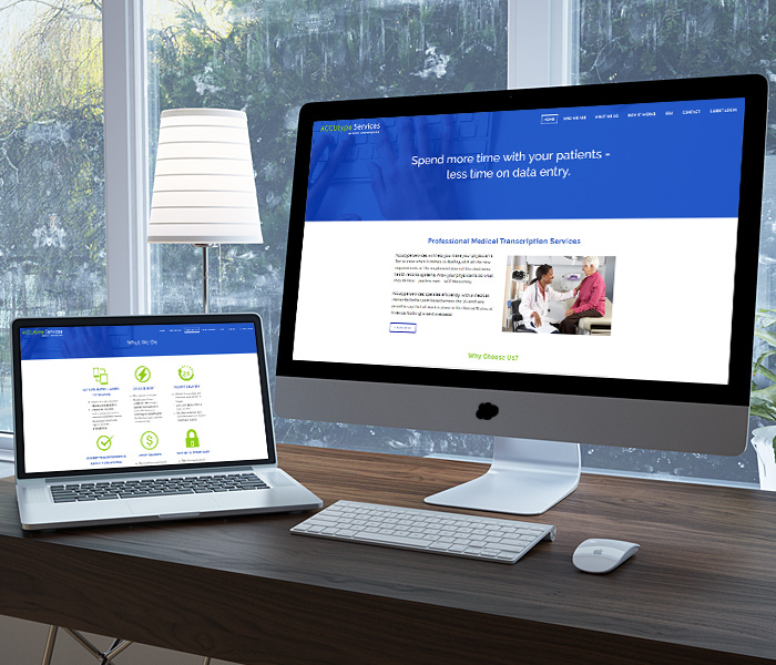 Accutype Services Website Design