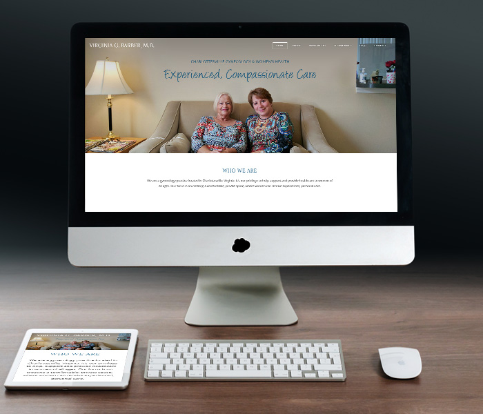 Virginia Barber, M.D. Website Design