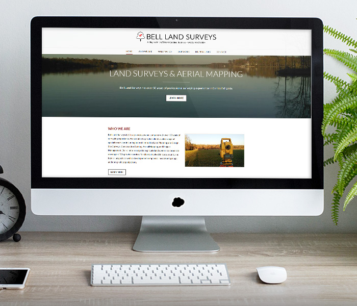 Bell Land Surveys Website Design
