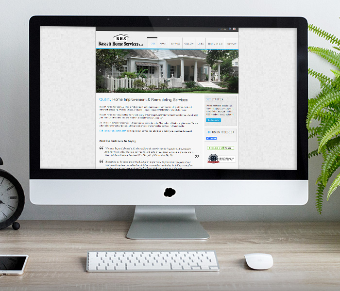 Bassett Home Services Website Design