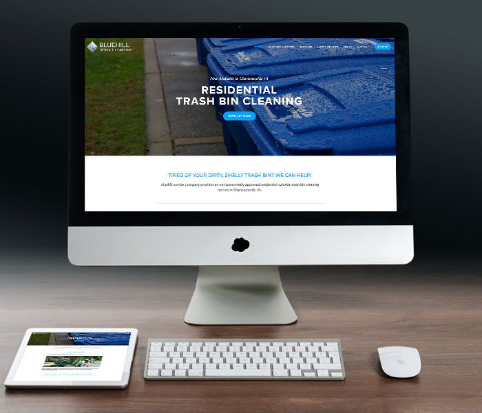 Bluehill Service Co. Website Design
