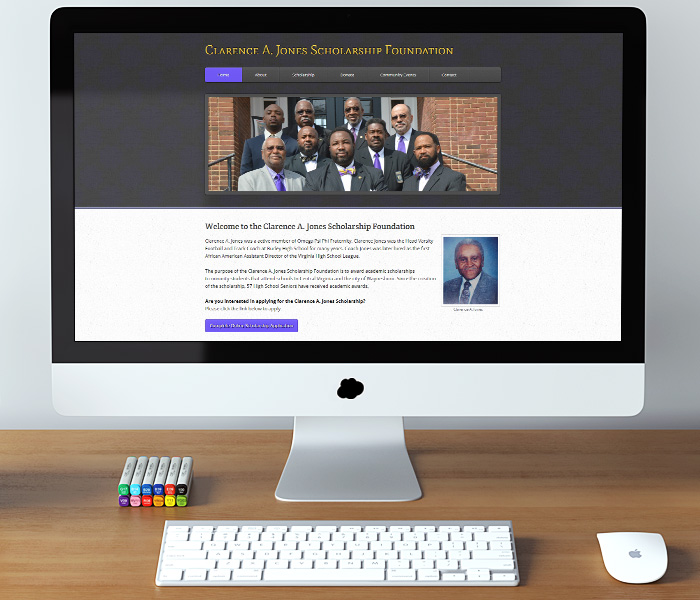 Clarence Jones Scholarship Foundation Website Design