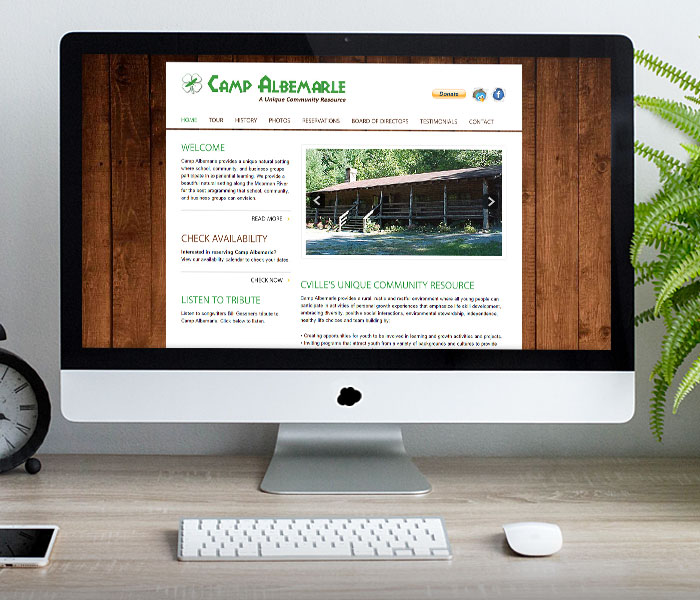 Camp Albemarle Website Design