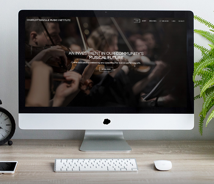 Charlottesville Music Institute Website Design