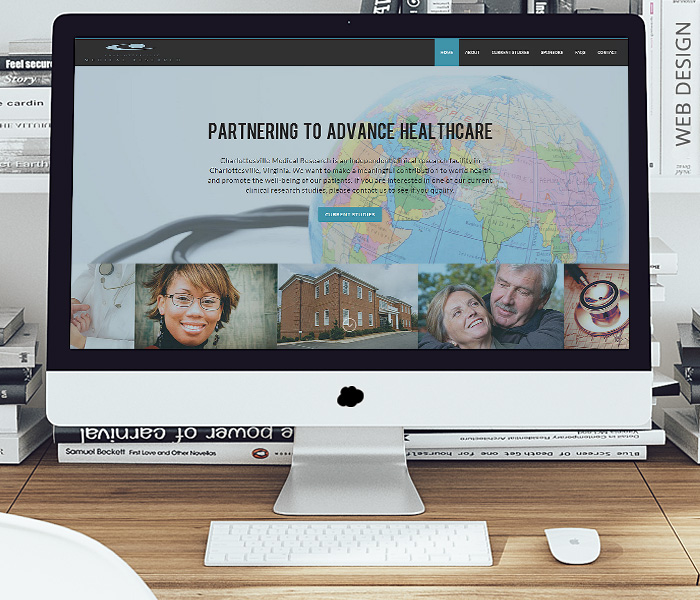 Charlottesville Medical Research Website Design