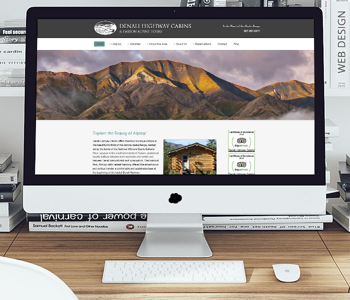 Denali Highway Cabins Website Design