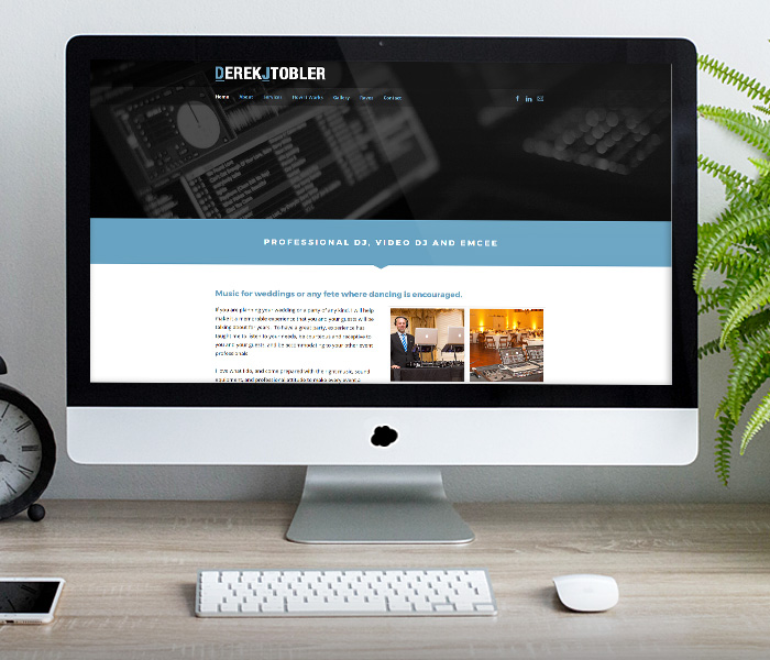 DJ Tobler Website Design