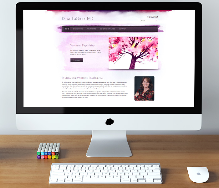 Dawn LaGrone MD Website Design