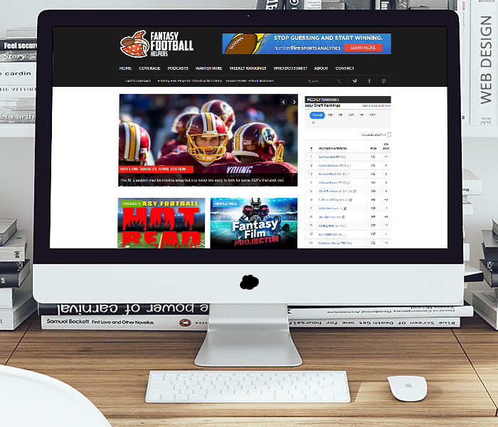 Fantasy Football Helpers Website Design