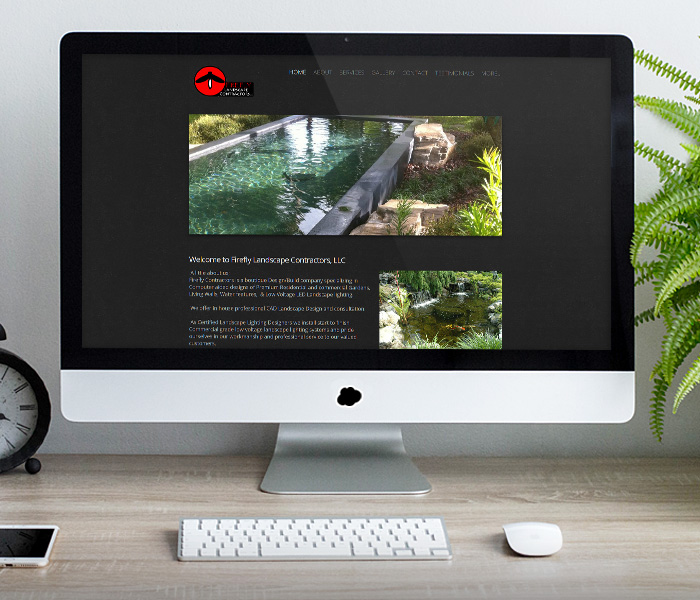 Firefly Landscape Contractors Website Design