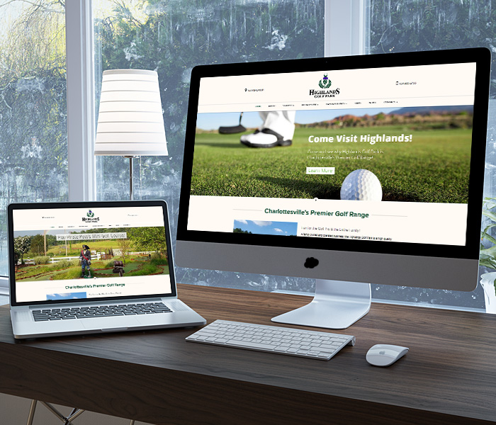 Highlands Golf Park Website Design