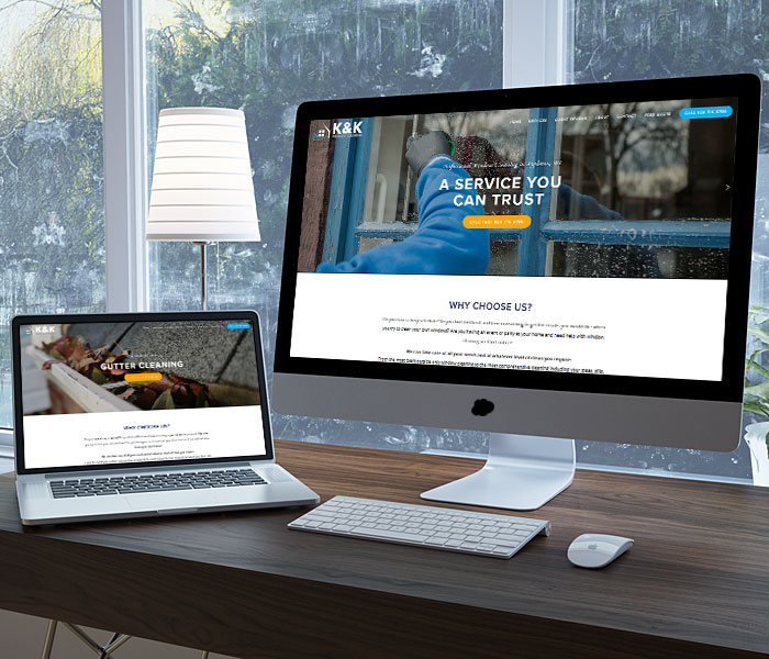 K and K Window Cleaning Website Design