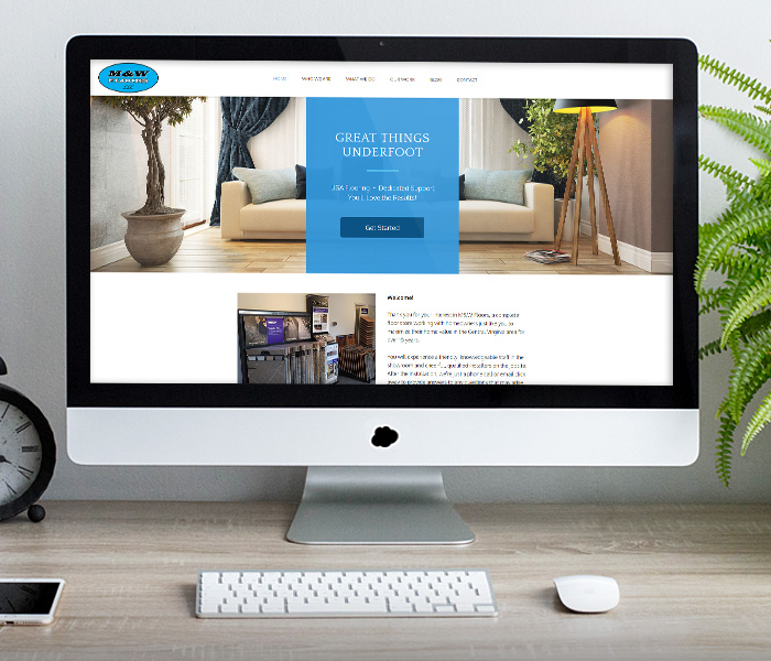 M&W Floors Website Design