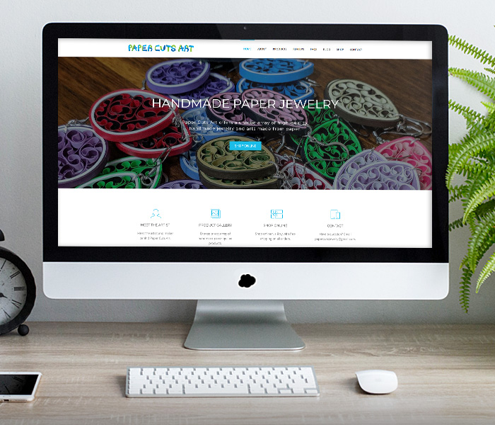 Paper Cuts Art Website Design
