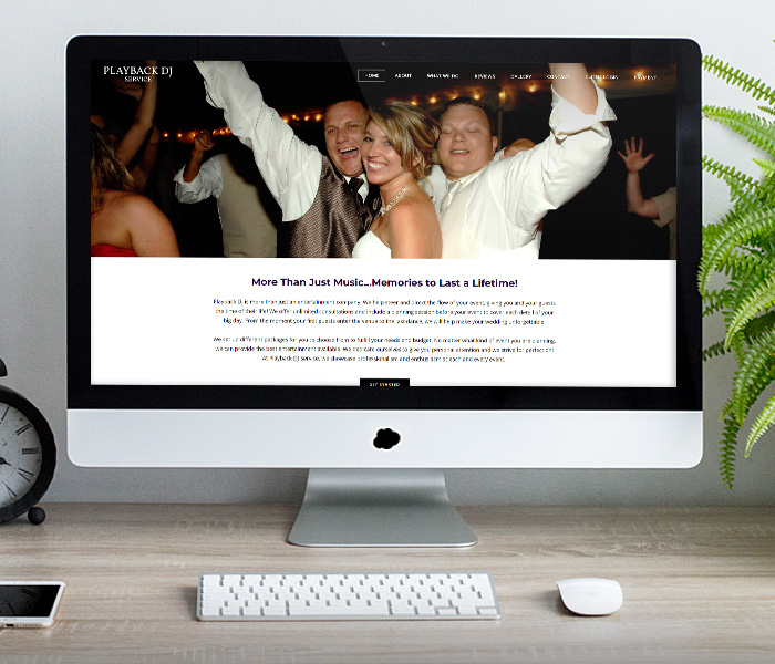 Playback DJ Website Design