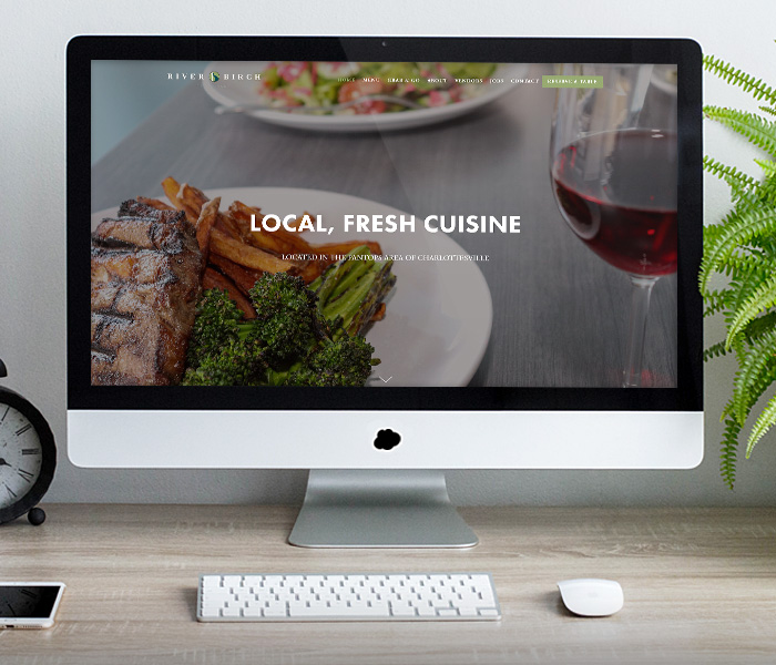Riverbirch Restaurant Website Design