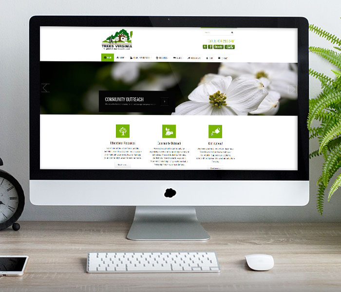 Virginia Urban Forest Council Website Design