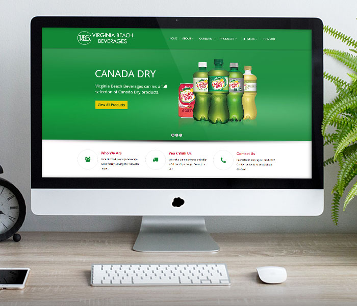 Virginia Beach Beverages Website Design