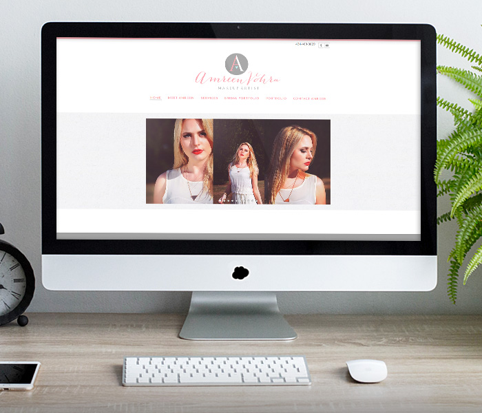 Amreen Vohra Makeup Artist Website Design